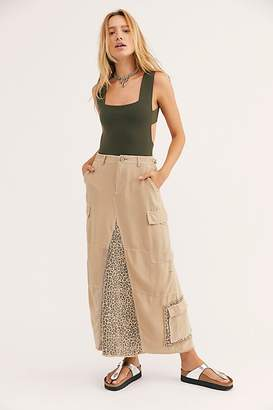 Free People Military Long Skirt
