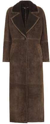 Salvatore Ferragamo Shearling-lined suede coat