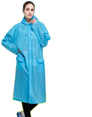 ONLINE Unisex Drawstring Raincoat with Hoods for Hiking Outdoor Travel