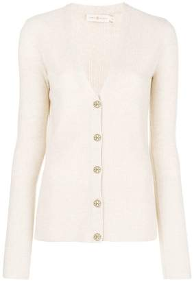 Tory Burch ribbed fitted cardigan