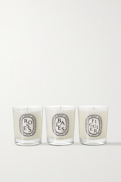 Diptyque Baies, Roses And Figuier Set Of Three Candles, 3 X 70g - one size
