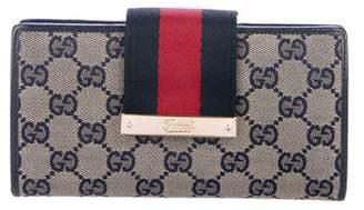 Gucci GG Web Continental Wallet