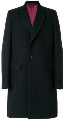 Gucci contrast trim single breasted coat