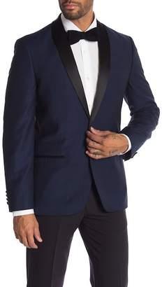 Ben Sherman Navy One Button Shawl Lapel Slim Fit Tuxedo Jacket