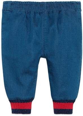Baby denim pant with Web $230 thestylecure.com