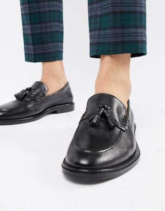 WALK LONDON WALK London West tassel loafers in black milled leather