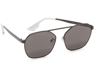 McQ - Alexander McQueen Hexagon Brow Bar Sunglasses $169 thestylecure.com