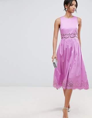 Ted Baker Violet Embroidered Midi Dress
