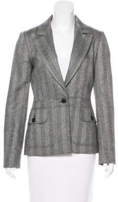 Cacharel Herringbone Wool Blazer