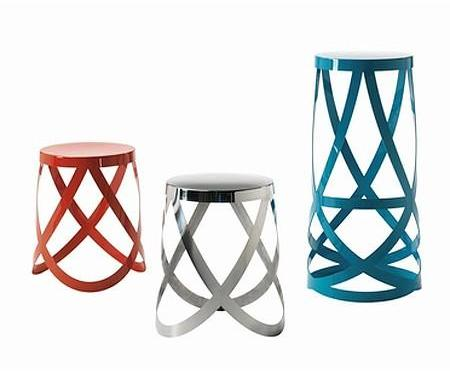 Cappellini - ribbon stool series by nendo for cappellini