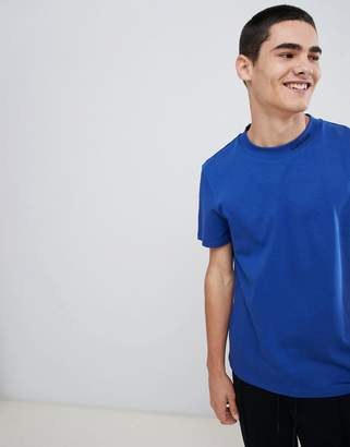 Calvin Klein Turtle Neck T-Shirt With Embroidered Logo Blue