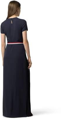 Tommy Hilfiger Pleated Chiffon Maxi Dress