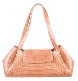 Nancy Gonzalez Metallic Crocodile Shoulder Bag