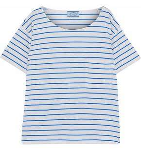 Prada Striped Cotton-Jersey T-Shirt