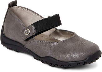 Nina Kids Girls) Grey Juliette Mary Jane Shoes