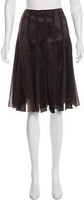 St. Emile Silk Knee-Length Skirt