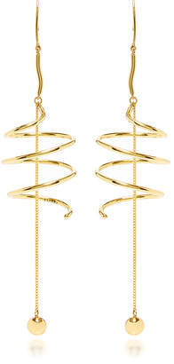 Ellery Solitude Spiral Coil Earrings with Ball and Chain
