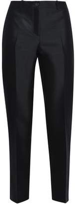 Michael Kors Cropped Wool And Silk-Blend Twill Slim-Leg Pants