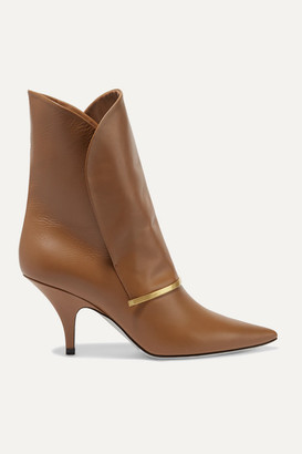 Givenchy Bar Leather Ankle Boots - Tan