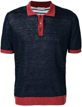 Etro colour block polo shirt