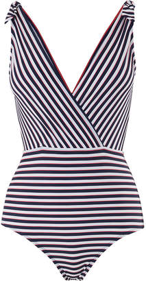 Oasis STRIPE TIE SHOULDER SWIMSUIT