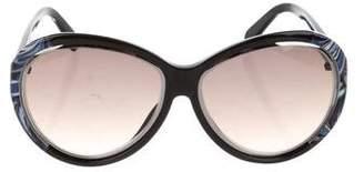Emilio Pucci Printed Gradient Sunglasses