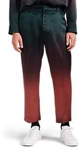 Sies Marjan Men's Alex Dégradé Washed Satin Crop Trousers