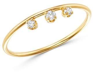 Chicco Zoë 14K Yellow Gold Diamond Crown Stacking Ring