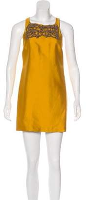 Tibi Silk Embellished Sheath Dress