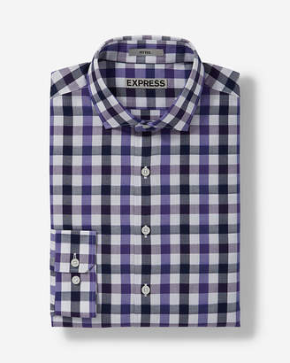 Express Slim Checked Dress Shirt