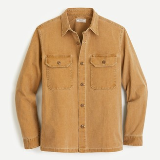 J.Crew Wallace & Barnes shirt-jacket in stretch duck canvas