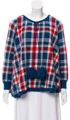Alexander McQueen Oversize Plaid Sweater
