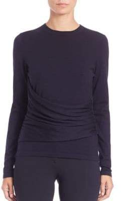 Derek Lam Cashmere& Silk Gathered Top