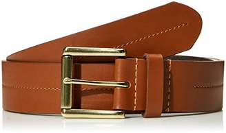 Filgate Soft Genuine Leather Belt with Rolled Buckle Stitching On The Strap 30""
