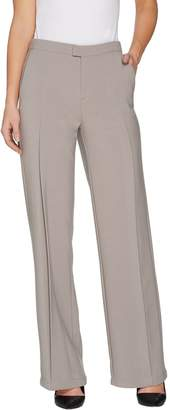 Halston H By H by Regular Stretch Suiting Wide Leg Pants
