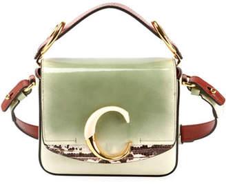 Chloé C Mini Glossy Top-Handle Bag