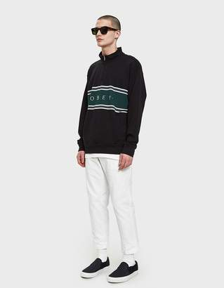 Obey Palisade Mock Neck Zip