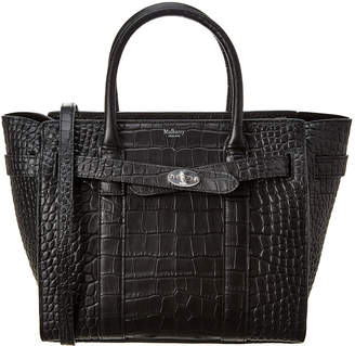 Mulberry Bayswater Small Croc-Embossed Leather Tote