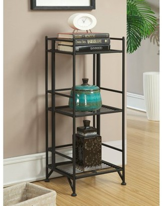 Generic Convenience Concepts Designs2Go Metal Folding 3 Shelf Bookcase, Multiple Finishes