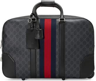 Gucci GG Black carry-on duffle with wheels
