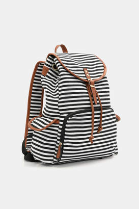 Ardene Striped Canvas Backpack