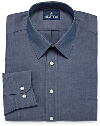STAFFORD Stafford Travel Performance Super Shirt Long Sleeve Broadcloth Pattern Dress Shirt