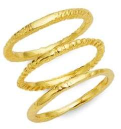 Gorjana Three-Piece Stackable Ring Set