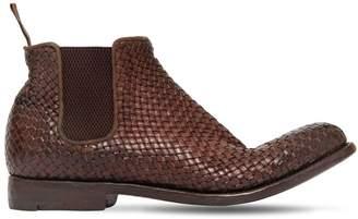 Alberto Fasciani Braided Buffalo Leather Ankle Boots