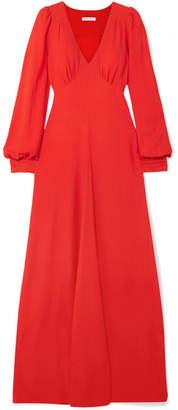 Bella Freud Nova Crepe Maxi Dress - Red