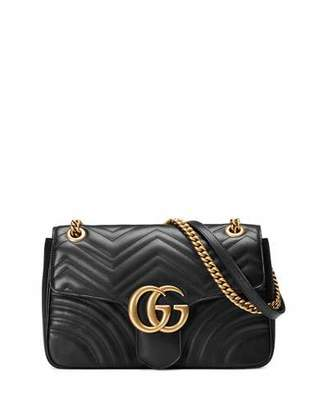 Gucci GG Marmont 2.0 Medium Quilted Shoulder Bag, Black $2,300 thestylecure.com