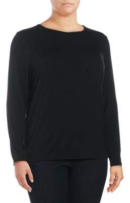 Lord & Taylor Plus Sofia Long-Sleeve Pullover