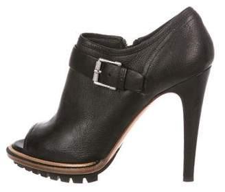 Belstaff Leather Peep-Toe Booties