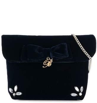 Miss Blumarine velvet shoulder bag