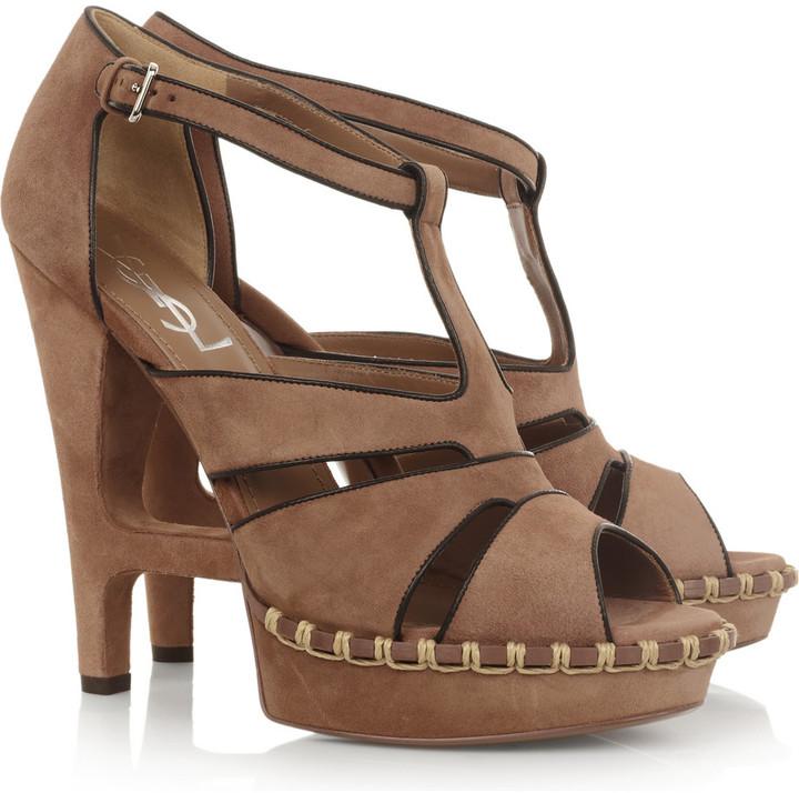 Yves Saint Laurent Essentielle suede sandals